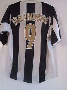 0859cb6fe8d Image is loading Juventus-2004-2005-Ibrahimovic-9-Home-Football-Shirt-