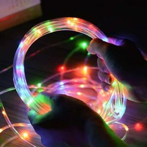 Details About Led Rope Lights Battery Operated String 33ft Waterproof Outdoor Christmas