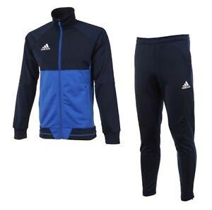 Adidas Tiro 17 Pes Formacion De Jovenes Traje Conjunto De Futbol Azul Nino Chaquetas Pantalones Bq2610 Ebay