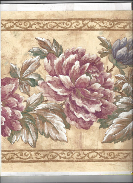 Wallpaper Border Flowers Floral New Arrival 10 1 2 Inches Wide For