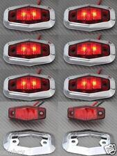 8x LED hinten Rot Chrome einfassung 12V begrenzungsleuchten Bus