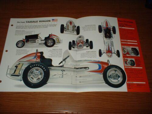 "★★1957 /""TAMALE WAGON/"" SPRINT RACE CAR SPEC SHEET BROCHURE PHOTO POSTER MIDGET 57"