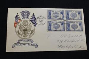 Patriotique-Housse-1937-1ST-Jour-Edition-Armee-Marine-Series-AMERICAIN-Academie