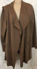 Akris Cardigan Light Brown Open Cashmere Blend  Long In Front Size M/L