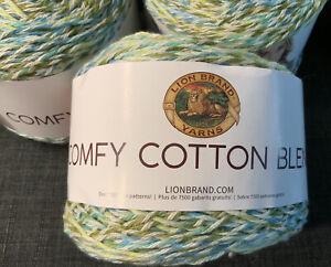 NEW-Lion-Brand-Yarn-Comfy-Cotton-Blend-Yarn-Spring-Meadow-756-706