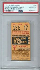 1951-MICKEY-MANTLE-YANKEES-ROOKIE-BASEBALL-TICKET-MAY-7-HITS-22-23-RBI-16-PSA