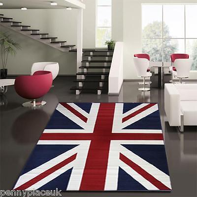 UNION JACK RUGS 3 SIZES! 2 COLOURS! BEST OF BRITISH!