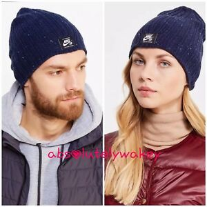newest 2e90a 1ae32 Image is loading Nike-SB-Surplus-Beanie-Woolly-Knit-Hat-Winter-