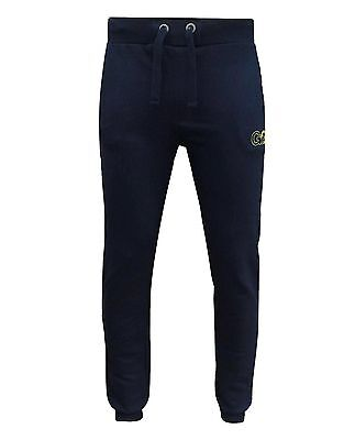 Selfless Gio Gio Men's Afterdark Fleece Joggers Jogging Bottoms Navy Activewear Bottoms