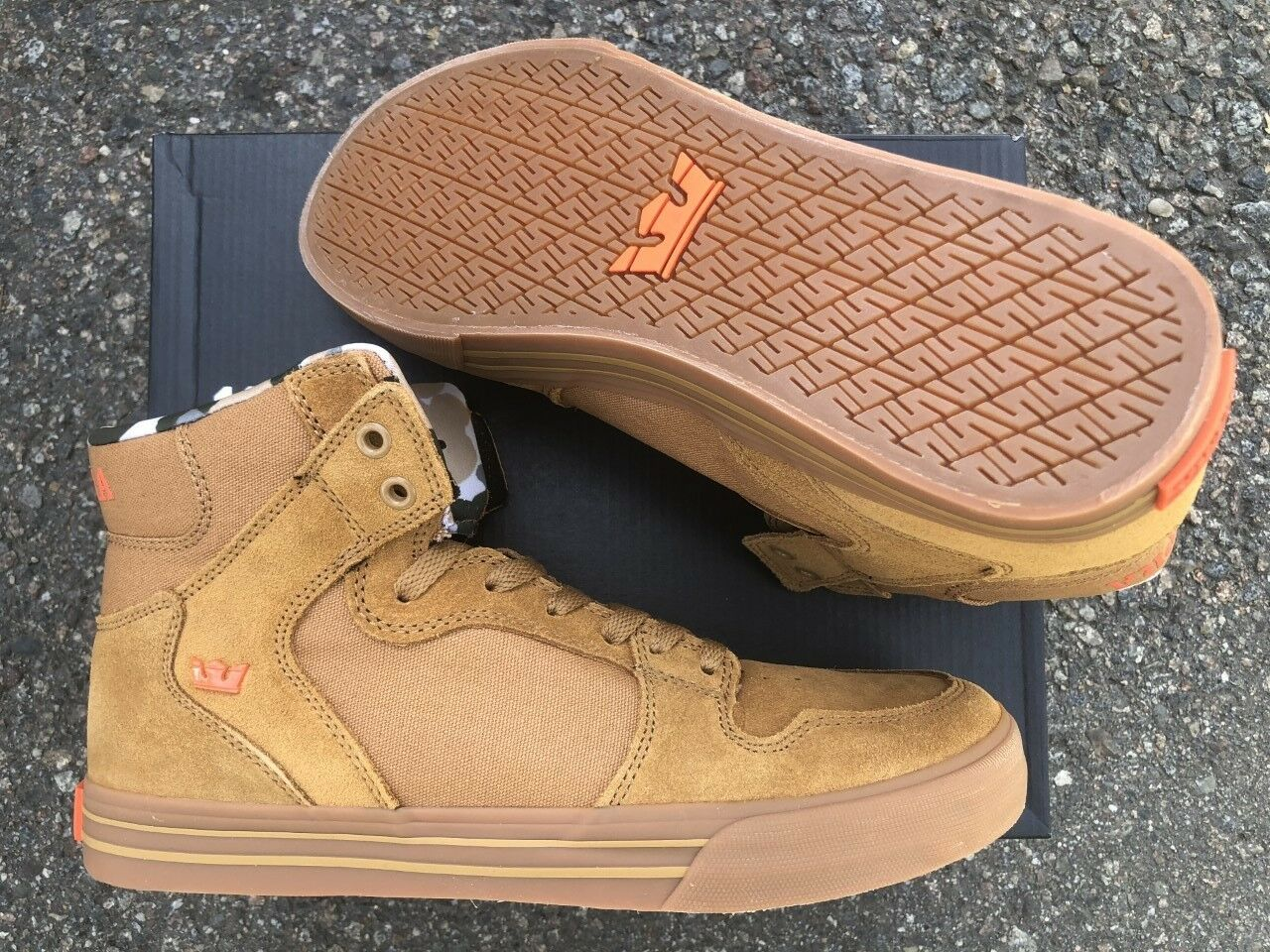 NEW SUPRA SUPRA SUPRA VAIDER TAN LIGHT GUM SURF BMX SNOW SKATEBOARD SPORTS schuhe 14 8057b4