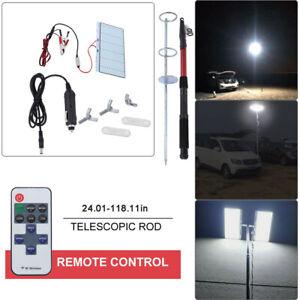 Telescopic COB Rod LED Fishing Outdoor Camping Lantern Light Lamp Hiking BBQ New