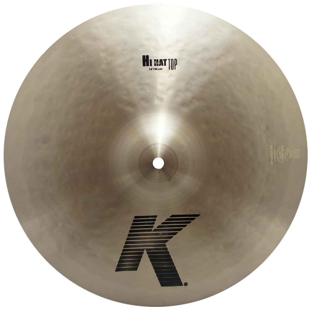 Zildjian K0824 14  Hi Hat Top Drumset Cymbal Medium Weight & Low Pitch - Used