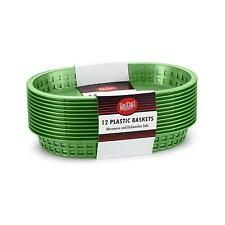 TABLECRAFT CHICAGO BASKET OVAL 10.5IN X 7IN GREEN SET OF 12 - C1076G