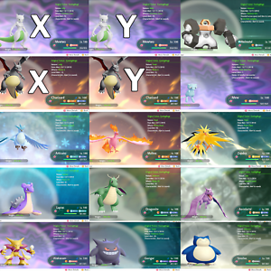 Pokemon-Lets-Go-Pikachu-amp-Eevee-All-153-Shiny-Pokemon-6IV-Max-AV-Battle-Ready