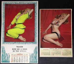 Lot 2 Marilyn Monroe Calendars By Tom Kelly 1955 1958 Sexy Rare