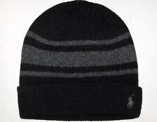 item 1 POLO RALPH LAUREN Mens Wool Cashmere Rugby-Stripe Beanie Skull Ski  Cap Hat BLACK -POLO RALPH LAUREN Mens Wool Cashmere Rugby-Stripe Beanie  Skull Ski ... 7a6fed500385