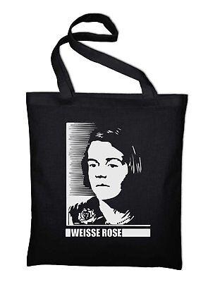 Weisse Rose Geschwister Scholl Sophie Jutebeutel Antifa Antifaschismus Flugblatt