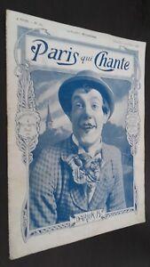 Rivista Settimanale per Lettera Parigi Che Canta N°189 Settembre 1906 ABE