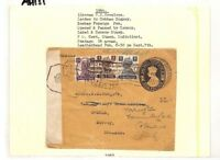 AH151 1944 India Bombay Cover Cobham Surrey GB Opened and Passed by Censor PTS