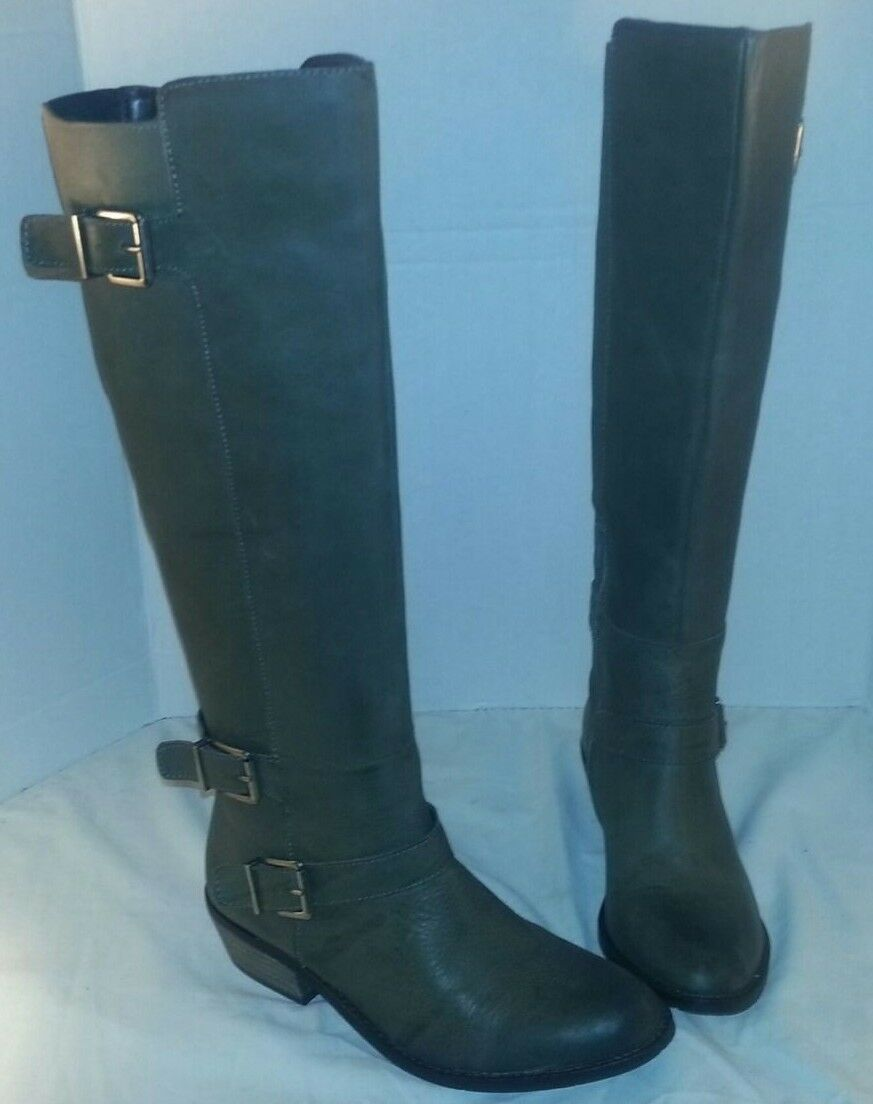 NEW  DOLCE VITA STONE CAMBRIDGE KNEE KNEE KNEE HIGH LEATHER RIDING BOOTS WOMEN'S SIZE 8 b5c404