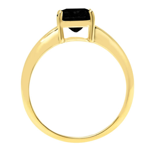 Details about  /2.5ct Cushion Cut Natural Onyx Wedding Bridal Promise Ring 14k Yellow Gold