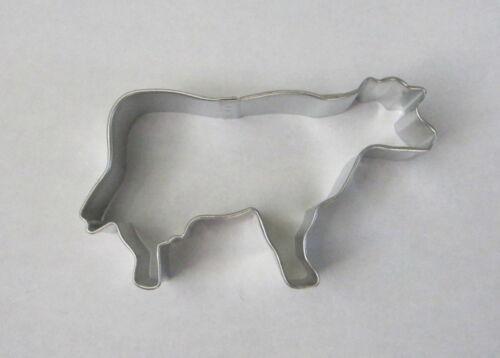 "4/"" Cow Tin Plated Steel Fondant R/&M Cookie Cutter Farm Barnyard Ranch Animal"