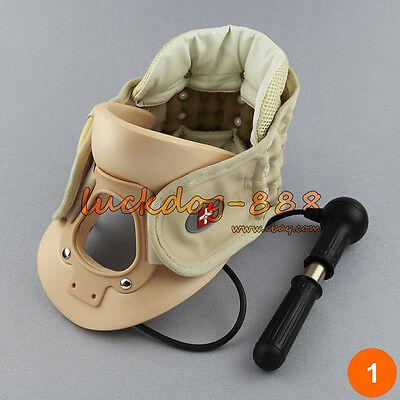 Cervical Collar Neck brace Air Traction Therapy Device Neck Pain Release Support