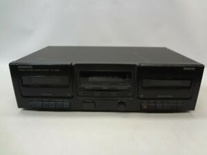 Kenwood-KX-W1060-Stereo-Dual-Cassette-Deck-AS-IS-See-Notes
