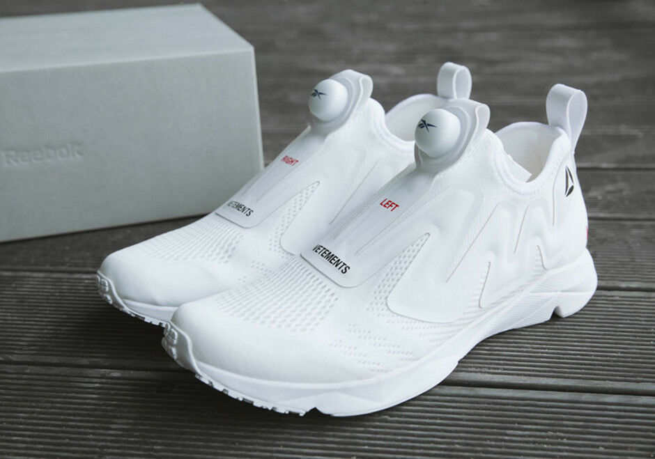 Vetements x Reebok Pump Supreme White Left Right Limited Edition NEW AUTHENTIC