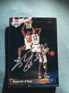 Details About Shaquille Oneal Autographed 1992 Upper Deck Draft Rookie Card 1 Wcoa Rare