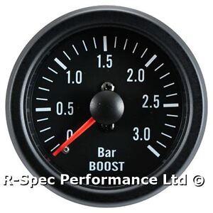 3-Bar-Turbo-Diesel-52mm-Black-Face-Mechanical-Boost-Pressure-Gauge-Tdi-Td-Dt