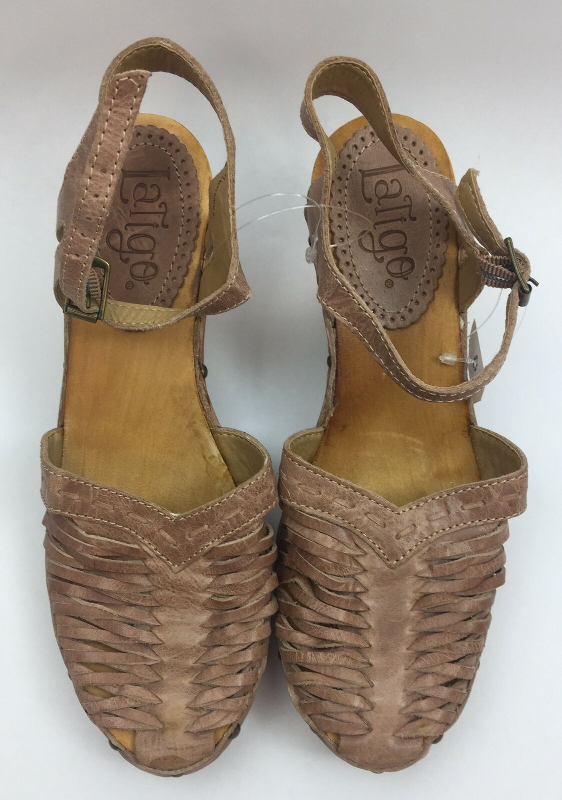 Latigo Women's Brown Size 10 M Leather Upper Closed Toe Heels NWOB