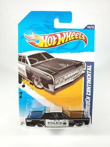HOT-WHEELS-2012-HW-MAIN-STREET-1964-LINCOLN-CONTINENTAL-POLICE-NEW-WITH-PROTECTO