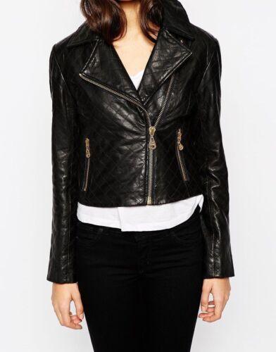 Fitted Ladies Lfk Biker Slim Vintage Real Leather Jacket Womens Soft ExYZqp7xw