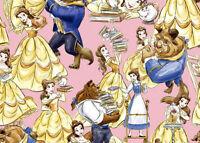 Disney Belle The Beauty & The Beast Mrs Potts Chip 100% Cotton Fabric Yardage