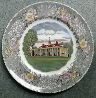 "Old English Staffordshire Ware Adams Pottery ""mount Vernon Virginia Usa Plate Volume Large Adams Pottery, Porcelain & Glass"