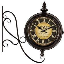 Reloj De Pared Vintage Estilo Antiguo De Estación de cara negra duelo nuevos números romanos