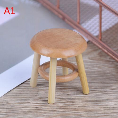 1:12 Puppenhaus Miniaturmöbel Holzhocker Stuhl Zimmer Gar  wlB ni