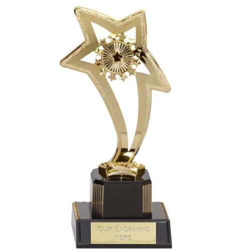* budget incurvée Star Trophy Award 3 Tailles Bon Marché Bargain Gravure Gratuite écoles