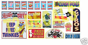 HO-Scale-Circus-Sideshow-Carnival-Food-amp-Beverage-Signage-Decals-3
