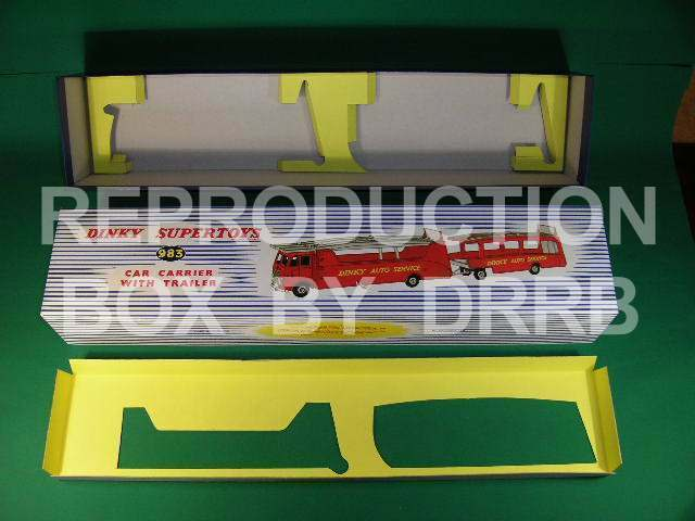 Dinky Car Carrier with Trailer - Reproduction Box by DRRB