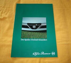 Alfa-Romeo-Spider-1983-CH-Prospekt-Brochure-Catalog-Depliant-Prospetto
