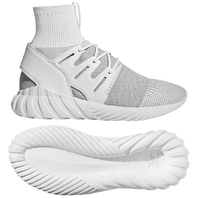 adidas Tubular Doom Primeknit Herren Sneaker Sportschuhe BY3553 weissgrau