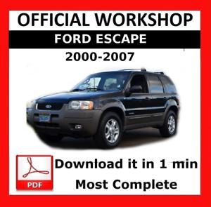 2007 ford escape workshop manual