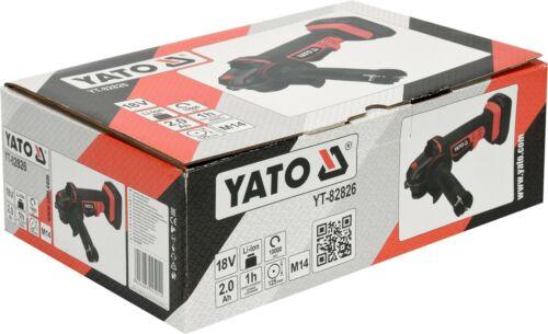 YATO Profi Akku Winkelschleifer Trennschleifer mobil-accu-flexen 18V 2Ah 125mm