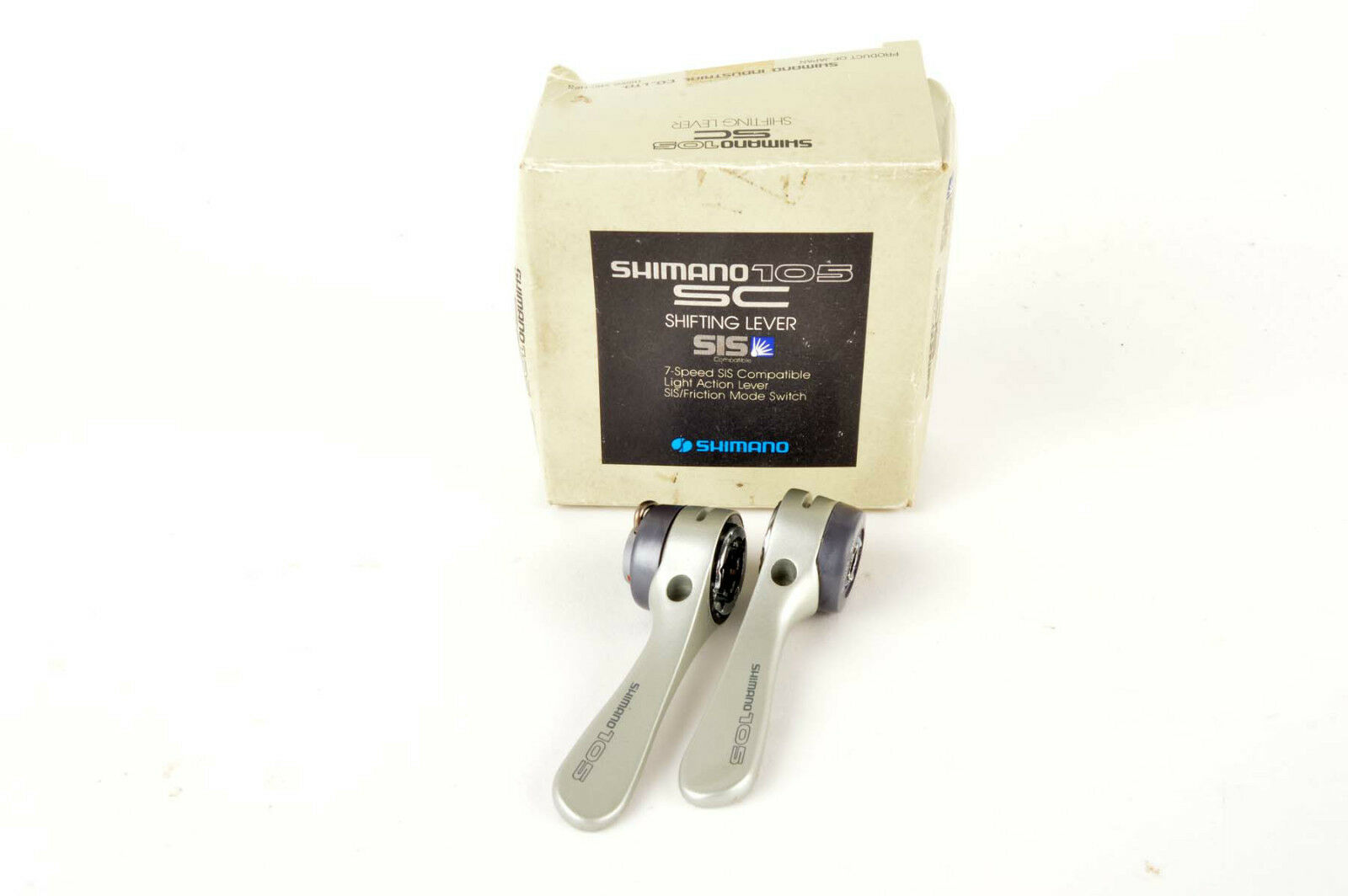 NEW Shimano 105  SL-1055 7 speed braze-on shifters from 1990 NOS NIB