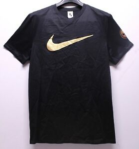 Nike Air Oliver Rousteing Balmain Style Black Gold T-Shirt Men s ... 22ac491435b6