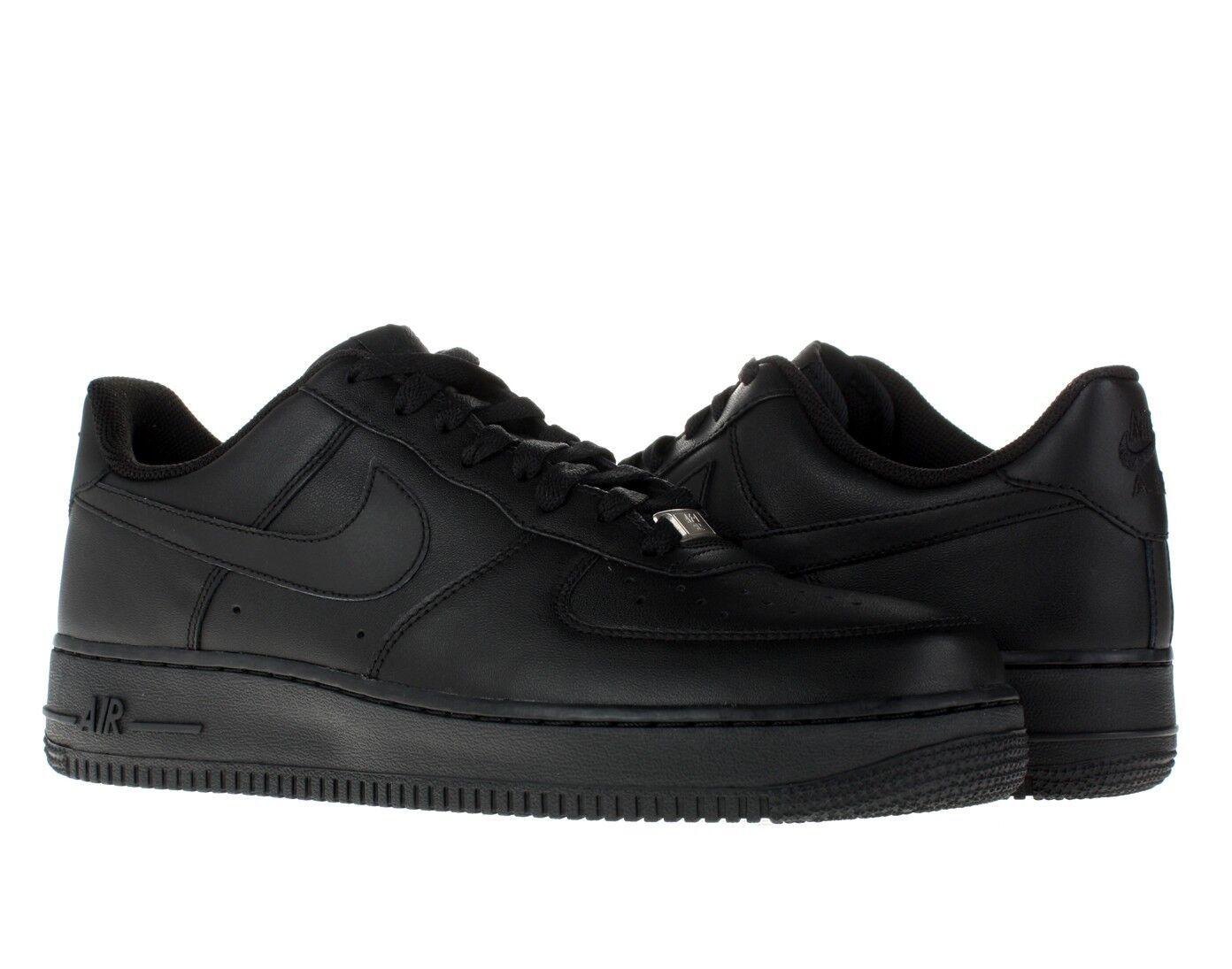 Nike Air Hombres Force 1 One 07' Hombres Air Zapatos Zapatillas De Cuero Bajas todos Talle 315122-001 Negro b52d0c