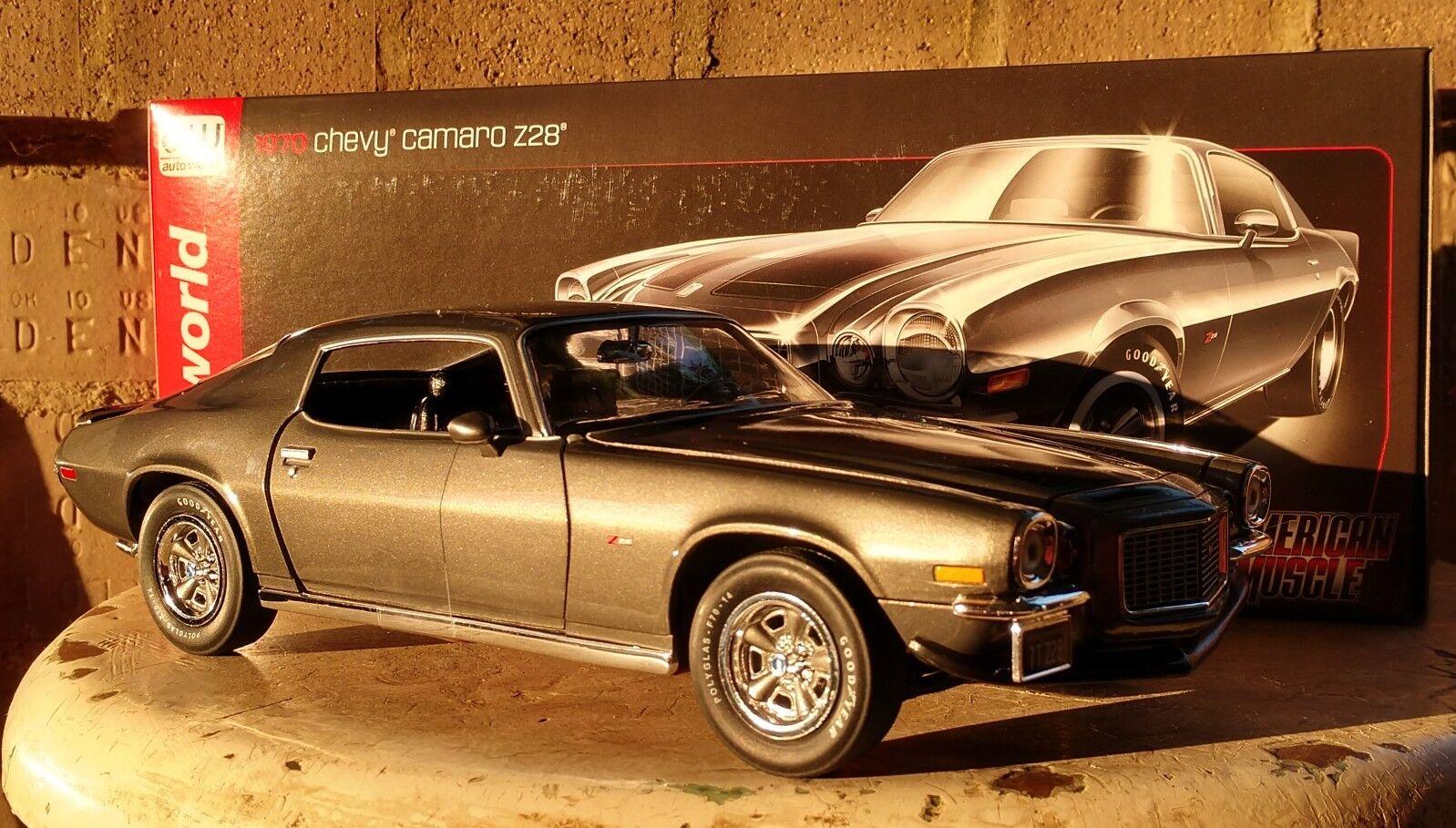 bil värld 1970 Chevy Camaro Z  28 1 18 skala tärningskast Metal modellllerler AW bil
