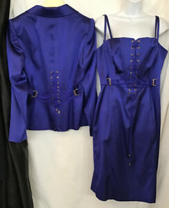 escada corset lace up front dress with jacket corset